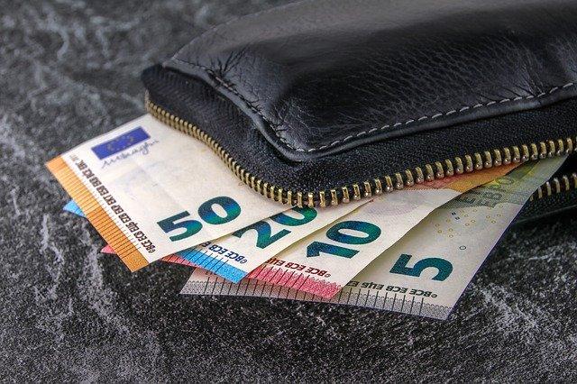 un portefeuille avec des billet d'euros